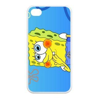 Personalized Cartoon SpongeBob SquarePants Protective Snap on Cover Case for iPhone 4/4S SS307 Cell Phones & Accessories
