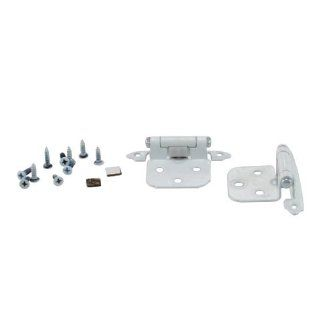 White Variable Overlay Self Closing Hinges (Pack of 2)   Cabinet And Furniture Hinges