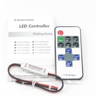 LED Mini Dimmer with 11 button RF Remote for Single Color LED Strip Lights 5V 24V 60W 288Watts