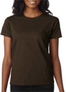 Gildan Ladies' T Shirt Dark Chocolate L
