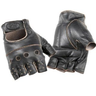 River Road Buster Vintage Leather Motorcycle Gloves LG Automotive