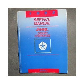 1993 Jeep Grand Cherokee Service Shop Repair Manual Oem jeep Books