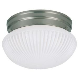 Sea Gull Lighting Webster 1 Light Brushed Nickel Flush Mount Fixture 5921BLE 962