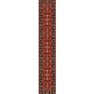 Safavieh LNH331B Lyndhurst Collection Red and Black Area Runner, 2 Feet 3 Inch by 22 Feet   Oriental Carpet Runners