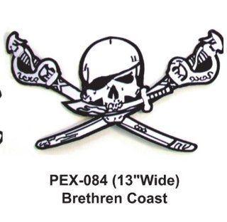 13'' Embroidered Military Extra Large Patch Jolly Roger