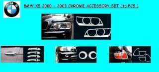 BMW X5 X 5 E53 EXTERIOR CHROME ACCESSORY ABS MOLDING TRIM KIT SET 2000 2001 2002 2003 Automotive