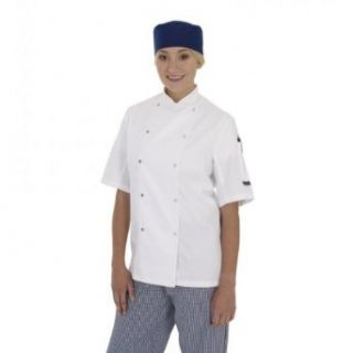 Dennys Ladies/Womens Short Sleeve Chefs Jacket / Chefswear Work Utility Outerwear Clothing