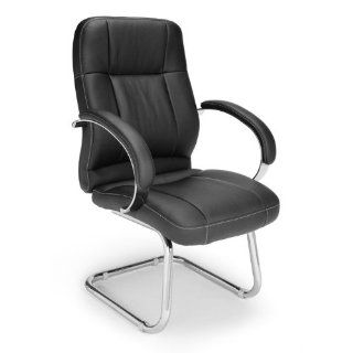 Leatherette Executive Conference Guest Chair Seat / Back Color Black  Reception Room Chairs