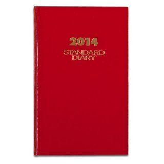 AT A GLANCE 2014 Standard Diary Daily Diary, Red, 8 x 12.5 x 1.25 Inches (SD376 13)  Appointment Books And Planners