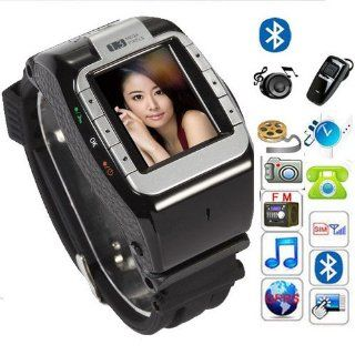 "black New N388 Unlocked 1.4"" Touch Screen Watch Mobile Phone Adjustable Band Cell phone Cell Phones & Accessories"