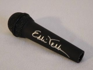 Eddie Vedder Pearl Jam Autographed Microphone Entertainment Collectibles