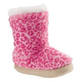 Carter's Toddler Girls Faux Fur Pink Cheetah Slipper Boots (Small (5 6)) Shoes