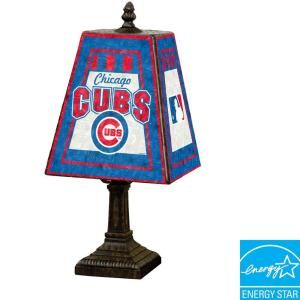 The Memory Company MLB 14 in. Art Glass Table Lamp   Chicago Cubs 142658