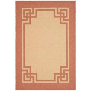 Martha Stewart Living Deco Frame Sand/Rust 5 ft. 3 in. x 7 ft. 7 in. Indoor/Outdoor Area Rug MSR4122J 5