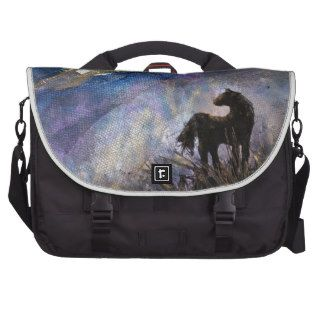 Touchstone   Horse in Moonlight  mixed media Laptop Commuter Bag