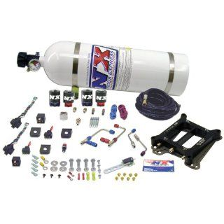 Nitrous Express 66570 15 Dominator 50 300 HP/100 500 HP Dual Stage Shark ProPower Plate System with 15 lbs. Bottle Automotive