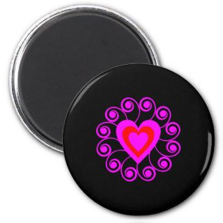Black Tattoo Heart Art Fridge Magnet