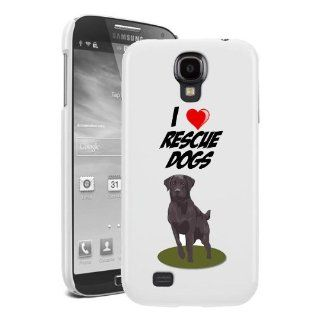 SudysAccessories I Love Heart Rescue Dogs Samsung Galaxy S4 case S IV Case i9500   SoftShell Full Plastic Snap On Graphic Case Cell Phones & Accessories