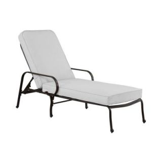Hampton Bay Fall River Adjustable Patio Chaise Lounge with Bare Cushion DY11034 C B