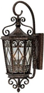 Savoy House 5 422 56 3 Light Wall Mount Lantern, New Tortoise Shell   Wall Sconces