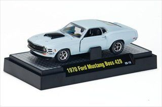 1970 Ford Mustang Boss 429 Light Blue 1/24 by M2 Machines 40200 lbl Toys & Games