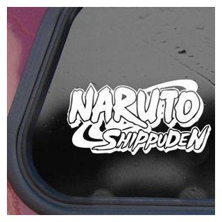Naruto Logo White Sticker Decal Shippuden Wall Laptop Die cut White Sticker Decal   Decorative Wall Appliques