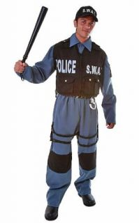 SWAT Police Officer Adult Halloween Costume Size Medium Clothing