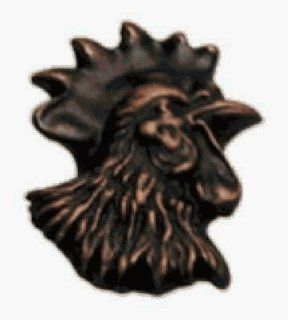 Anne At Home AH 446 16 Rooster Head Facing Right Knob   Antique Copper   Cabinet And Furniture Knobs