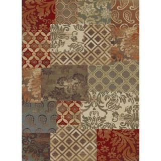 Tayse Rugs Impressions Multi 5 ft. 3 in. x 7 ft. 3 in. Transitional Area Rug DISCONTINUED 7790  Multi  5x8