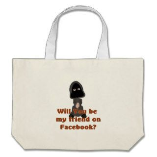 Grim Reaper Social Media Friend Funny Halloween Canvas Bag