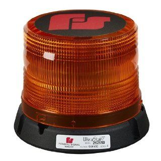 Federal Signal 211823 02 Pulsator 451 Plus Low Profile Strobe Beacon, Class 2, Permanent Mount with Amber Dome Industrial Warning Lights
