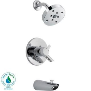 Delta Compel Single Handle 1 Spray Tub and Shower Faucet Trim Kit in Chrome (Valve Not Included) T17461