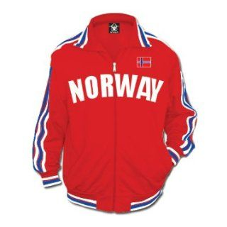 Norway Track Jacket, Norwegian World Cup Soccer Track Jacket (3X Large, Red (as Pictured)) Novelty Track Jackets Clothing