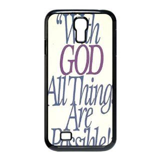 Custom Bible Verse Cover Case for Samsung Galaxy S4 I9500 S4 435 Cell Phones & Accessories
