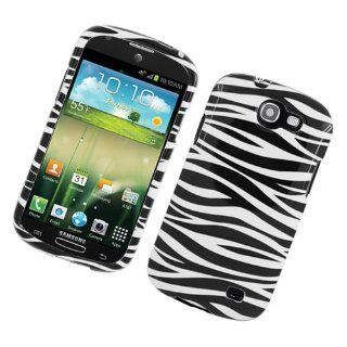 Black White Zebra Hard Cover Case for Samsung Galaxy Express SGH I437 Cell Phones & Accessories