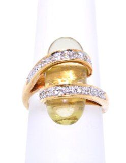 14K Yellow Gold Citrine/Diamond Ring Jewelry