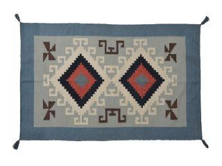 Area Rug, 4' X 6' Navajo Design Flat Weave Hand Woven 100% Wool Rug Sh7865   Hand Knotted Rugs