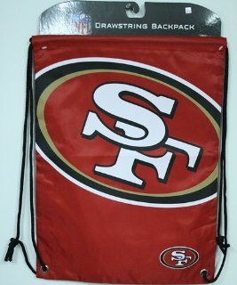 NFL San Francisco 49ers Drawstring Backpack  Sports Fan Backpacks  Sports & Outdoors