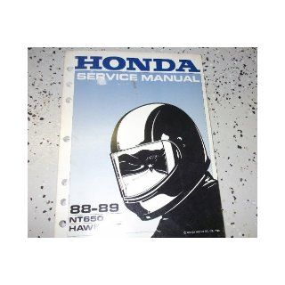 1988 1989 Honda NT650 NT 650 HAWK GT Service Shop Repair Manual OEM FACTORY honda Books