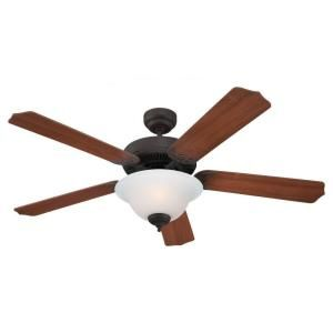 Sea Gull Lighting Quality Max Plus 52 in. Indoor Misted Bronze Ceiling Fan 15030BLE 814