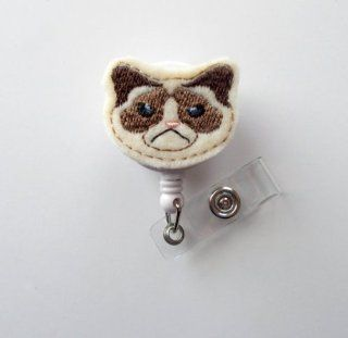 Grumpy Cat   Cute Badge Holder   Nurses Badge Holder   Felt Badge Holder   Nursing Badge Holder   Cute Badge Reel   RN Badge Reel   Nurse