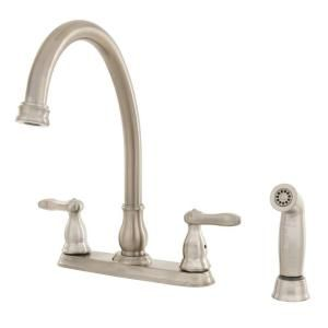 Delta Orleans 2 Handle Kitchen Faucet in Stainless Steel DISCONTINUED 2457 SS