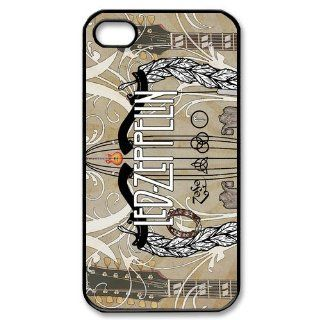 Custom Led Zeppelin Cover Case for iPhone 4 4s LS4 2598 Cell Phones & Accessories