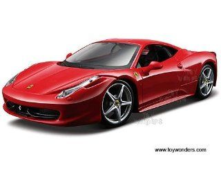 39113r Maisto   Model Kit Ferrari 458 Italia Hard Top (124, Red) 39113 Diecast Car Model Auto Vehicle Automobile Metal Iron Toy Toys & Games