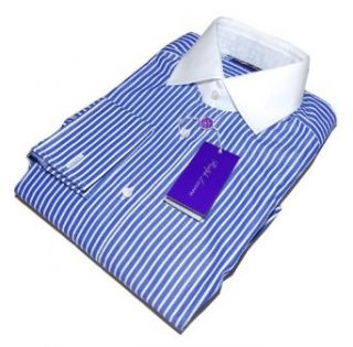 Polo Ralph Lauren Purple Label Mens Dress Shirt Blue French Cuff Italy 16 $475 at  Men�s Clothing store