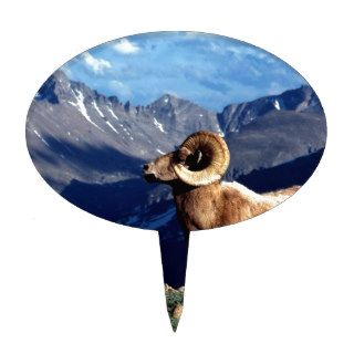 Deer Big Horn Ram Rocky Mountain Cake Picks