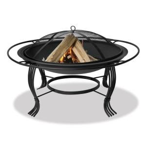 UniFlame Black Fire Pit with Outer Ring WAD1050SP