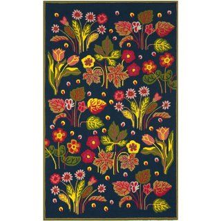 Safavieh FRS465A Four Seasons Collection Indoor/Outdoor Area Rug, 8 by 10 Feet, Navy and Green