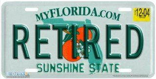 "483 ""Florida State Plate Retired"" Florida Novelty License Plates   Car Auto Novelty Front Tag by Jason Fetko from Airstrike Automotive"
