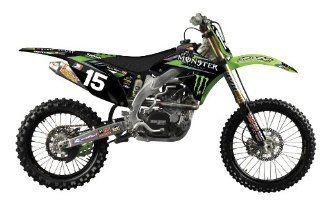 09 11 KAWASAKI KX450F 2012 N Style Hart & Huntington Graphics Kit   Kawasaki (WHITE) Automotive